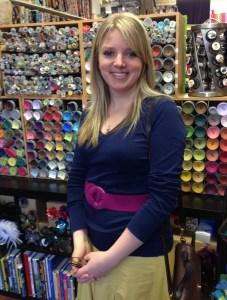 Kate at Loom fabric shop