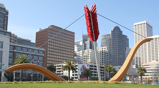 Sculpture by Claes Oldenburg and Coosje Van Bruggen, San Francisco. Wikipedia image.