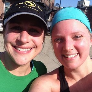 Kristi and Kate after Kate's first ten-mile run