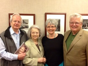 Bill and Judith Moyers with Stuart and me in Manhattan