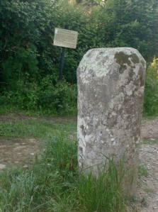 Milestone from the Camino Portuguese de Santiago.
