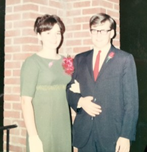With my banquet beau, Spring Banquet 1967