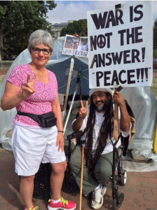 This man has been growing his hair since the 1980s as a protest against war.