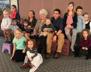 Mother with her great grandchildren, March 4, 2017.