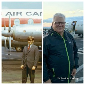 He has loved airplanes since he was a boy. Fifty years ago, you could stand under the wing of a plane!