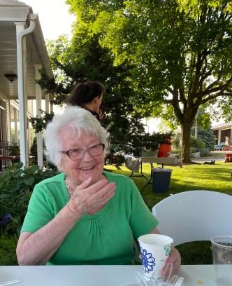 Still relishing family, farm, and food at age 94.