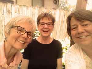 Shirley, Jane, and Melinda at the Tomato Pie Café