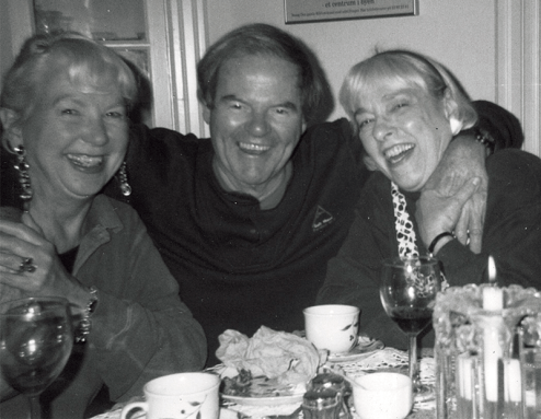 Shirley, Fred, and Clem dining at Pearl Manor.