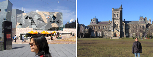 Federation Square (Melbourne) & University of Toronto (Toronto)