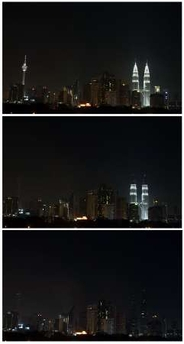 Earth Hour - Malaysia Petronas Twin Towers