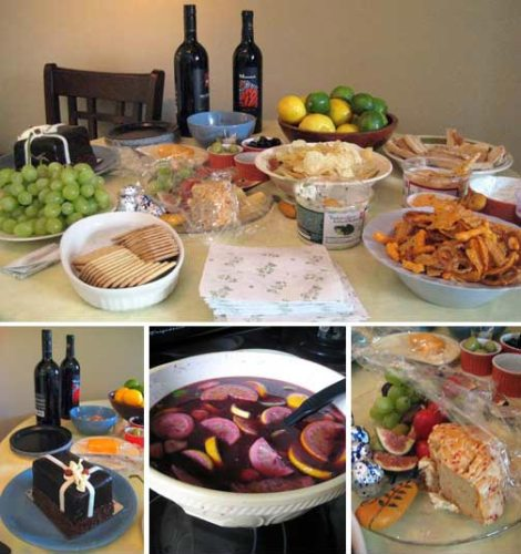A nice and simple party with Sangria