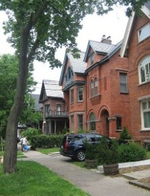 "A group of classic ""Annex Style"" houses"