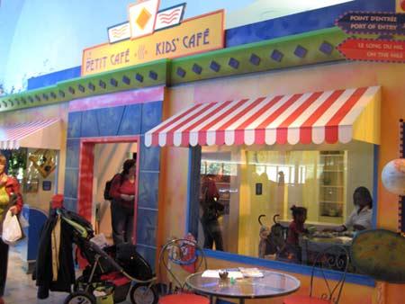 孩童博物馆内为小孩定做的 Kid's Cafe