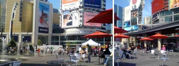 多伦多有名的 Dundas Square