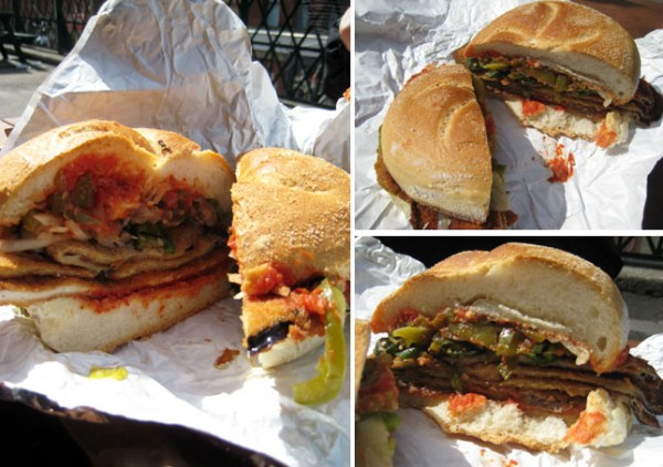 Veal & Eggplant Sandwich