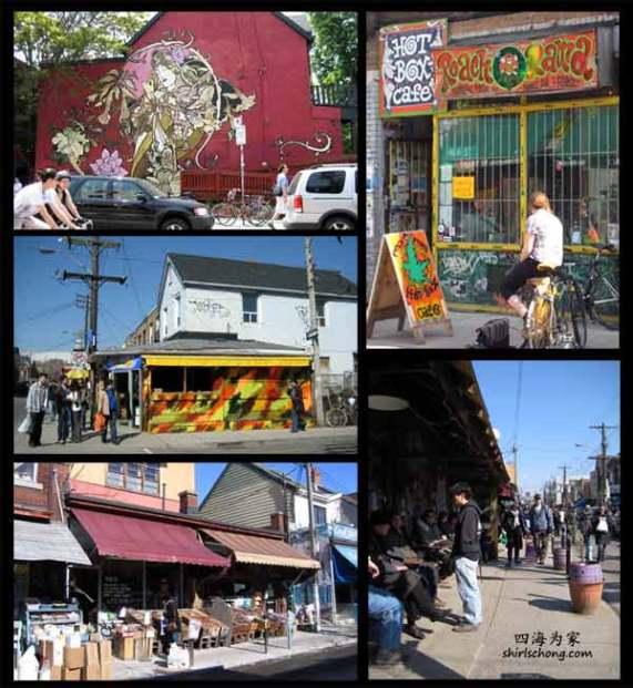 Kensington Market的丰富活力和创意可在街上五彩缤纷的grafitti 看出