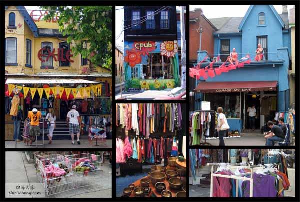 Kensington Market 内的 Kensington Ave 是多伦多最有名的复古/二手衣物街