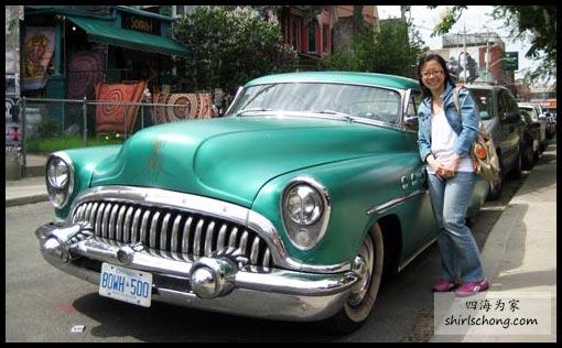 多漂亮的复古车!来张美人加美车照!哈哈!