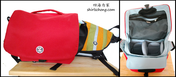 我们的其中两个crumpler包包。红色那个是相机包包。里面的padding够厚,可好好保护相机。