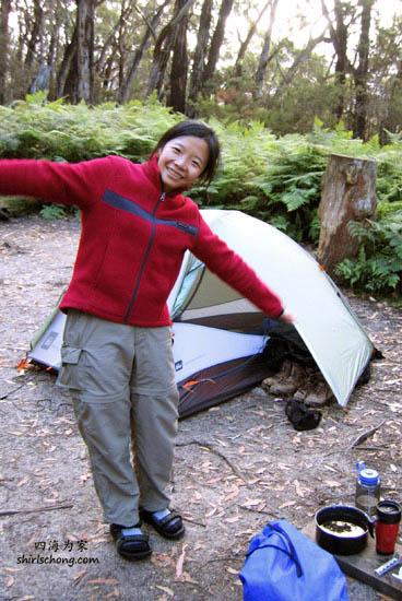 一个露营'小房子',带一些干粮或简单食物,这样就可以过几天大自然的生活,又便宜又特别!!