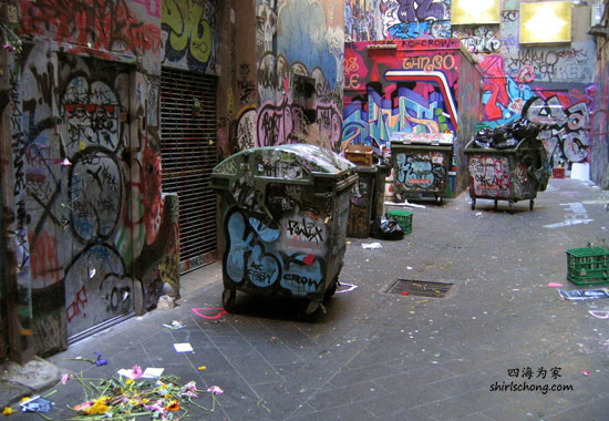 Graffiti Art in one of the small lanes, Melbourne