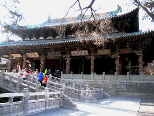 晋祠的主殿圣母殿 (中国山西)