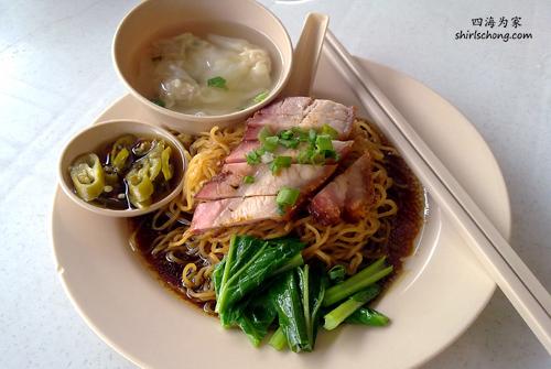 马来西亚云吞干捞面 (Malaysia Wanton noodles)