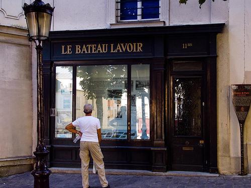 巴黎蒙马特的浣衣舫 (Le Bateau Lavoir, Montmartre, Paris)
