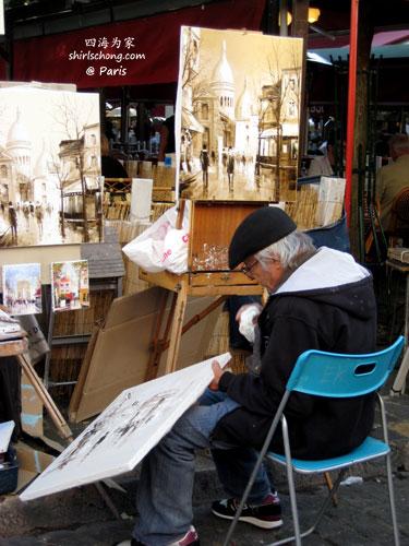 巴黎蒙马特的画家 (Painters in Montmortre, Paris)
