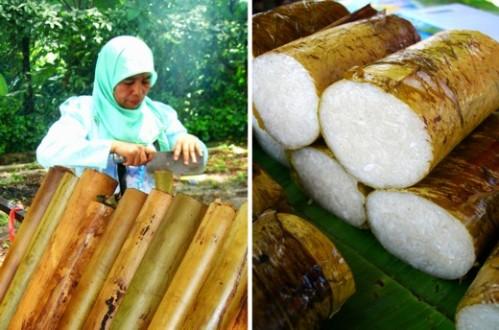 竹筒饭 - 30种马来西亚美食之一