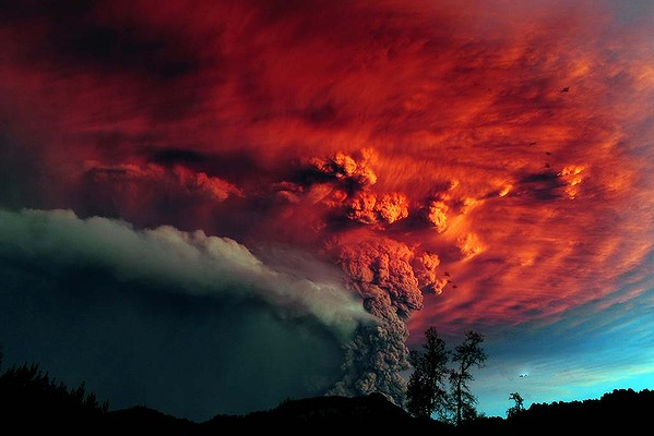 智利火山灰吹到澳大利亚上空
