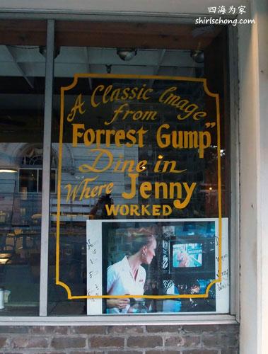 《阿甘正传》片中女主角工作的cafe, 就在萨瓦纳某家cafe 取景。