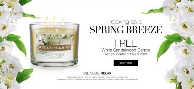 FREE gift with your Avon online order.