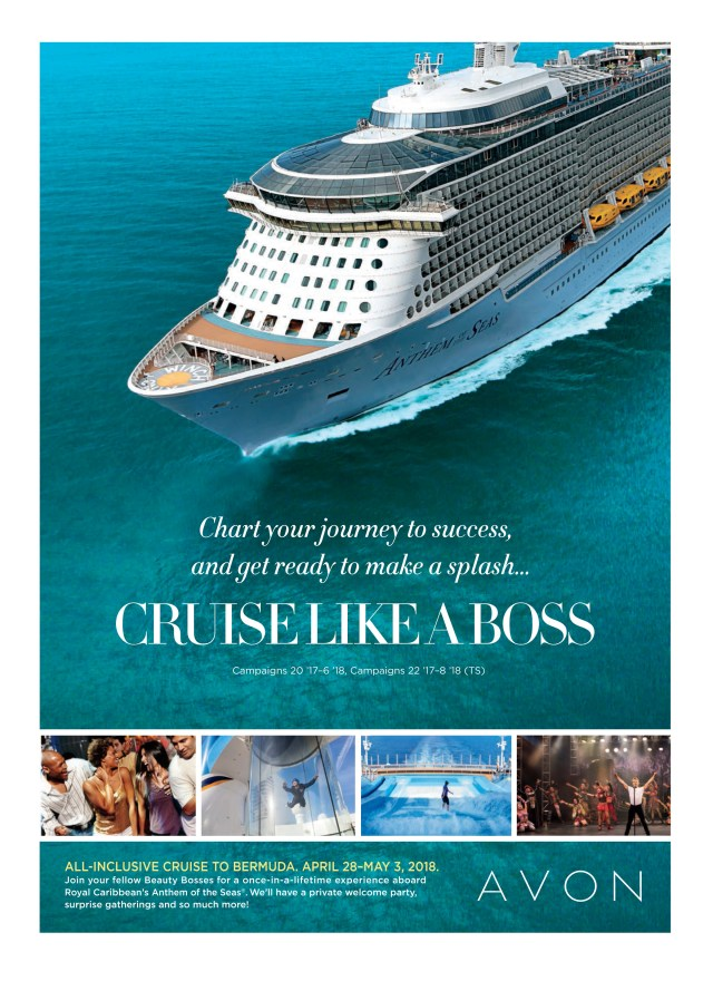Join Avon and Cruise or Drive Like a Boss