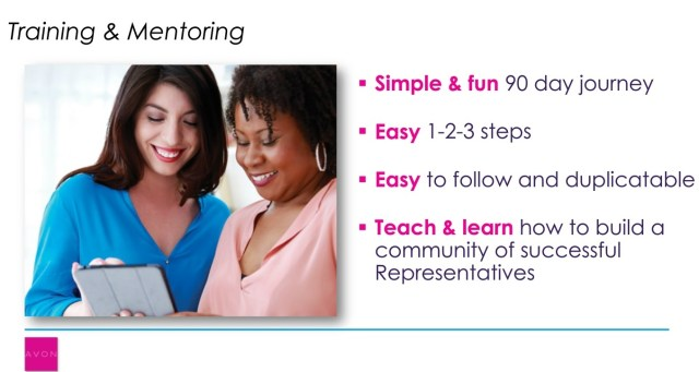 BEING AN AVON MENTOR