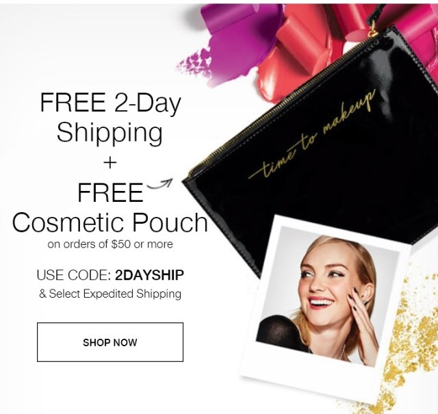 Free Avon Time to Makeup Pouch
