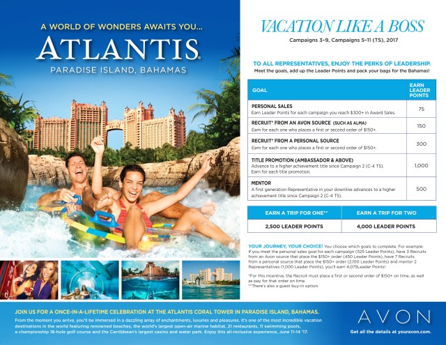 Join Avon and Vacation Like a Boss