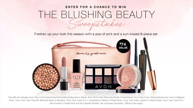 The Avon Blushing Beauty Sweepstakes