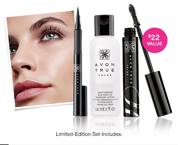 Limited Edition Avon True Color Wide Awake Mascara Set