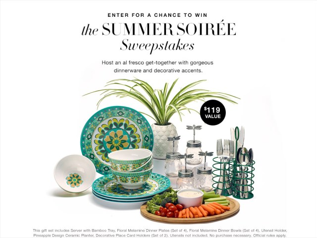 Enter the Avon Summer Soiree Sweepstakes