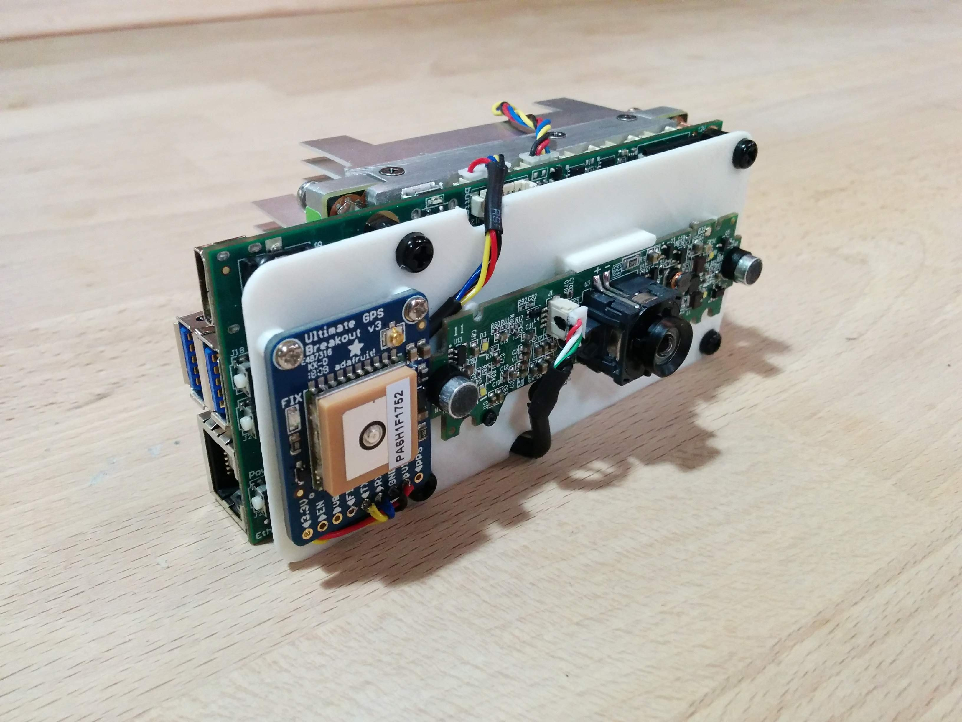 First Trial Printing of the Camera Device with Jetson TX2