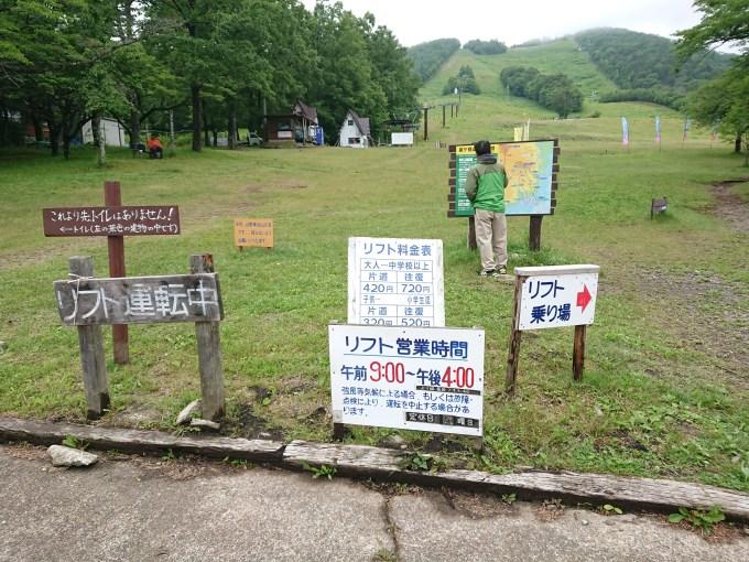 泉ヶ岳スキー場の案内板いろいろ
