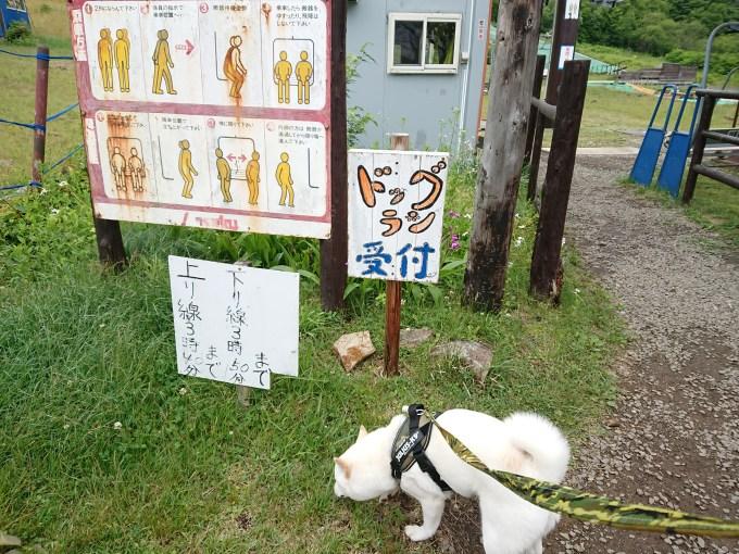泉ヶ岳スキー場ドッグランの受付