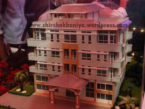 Architecture Models being displayed at real estate expo held at the exhibition hall, Bhrikutimandap, Kathmandu, Nepal.