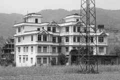 Namaste style. A popular Nepalese architecture style. On the way towards KU, Dhulikhel.