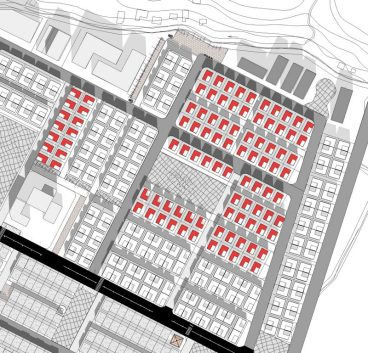 Prefinal : Detached housing zone with central open space