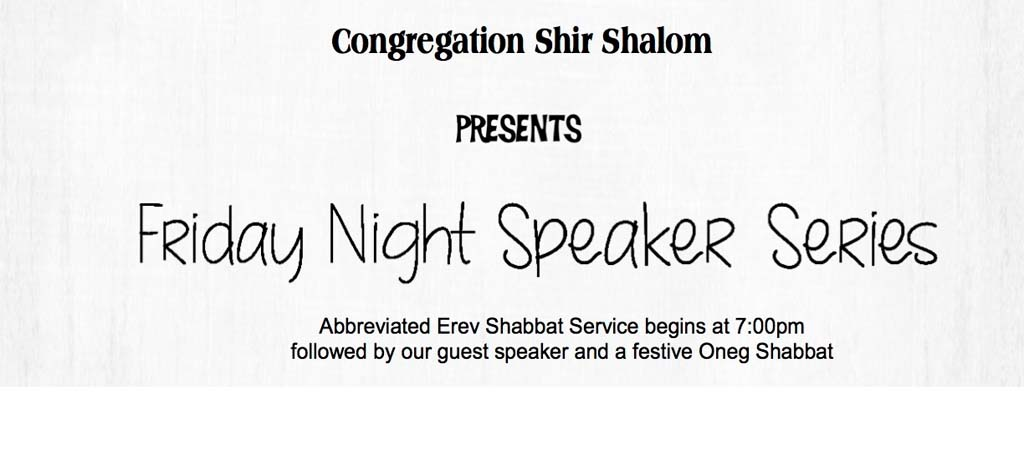 Friday Night Speaker Series