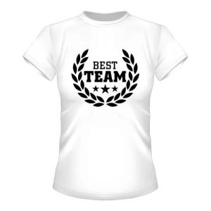 Best Team Damen T-Shirt - Weiß