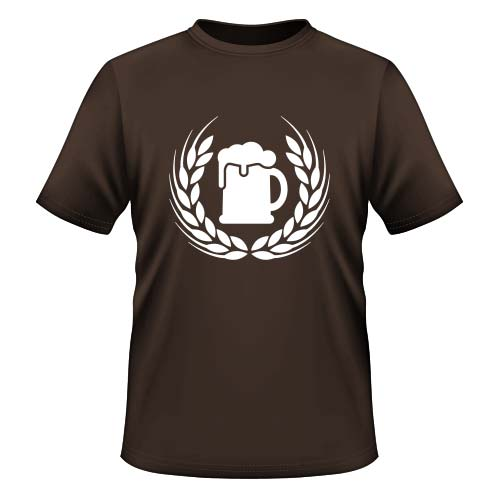 Bier Ähre Herren T-Shirt - Chocolate
