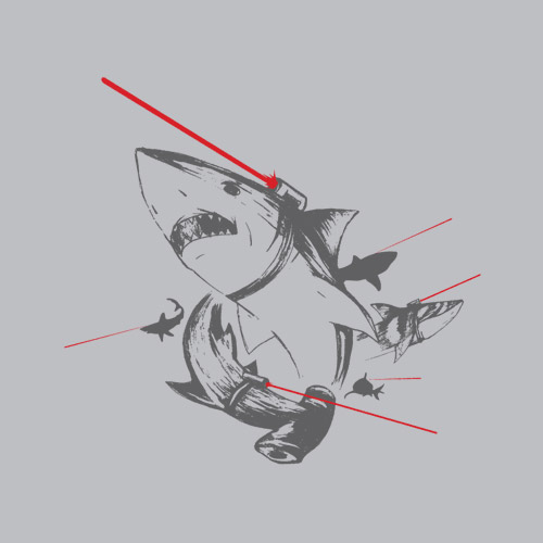 sharks with lasers shirtoid